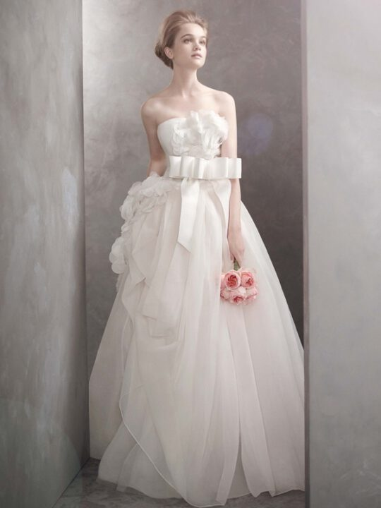 white by vera wang wedding dress  bridal gowns vw