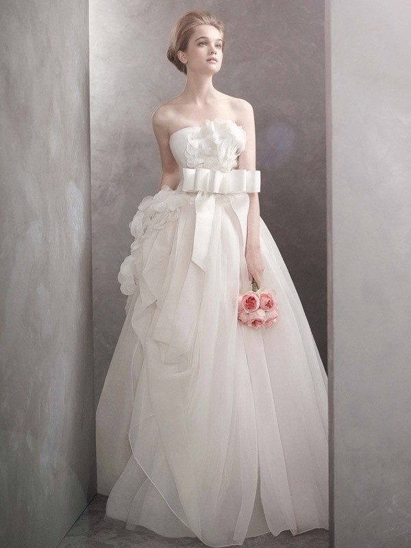 white by vera wang wedding dress  bridal gowns vw