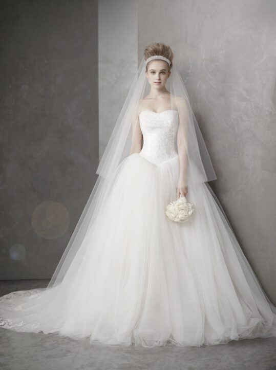 white by vera wang wedding dresses spring  bridal gown fairytale ballgown